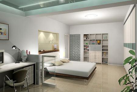 现代卧室装修效果图12